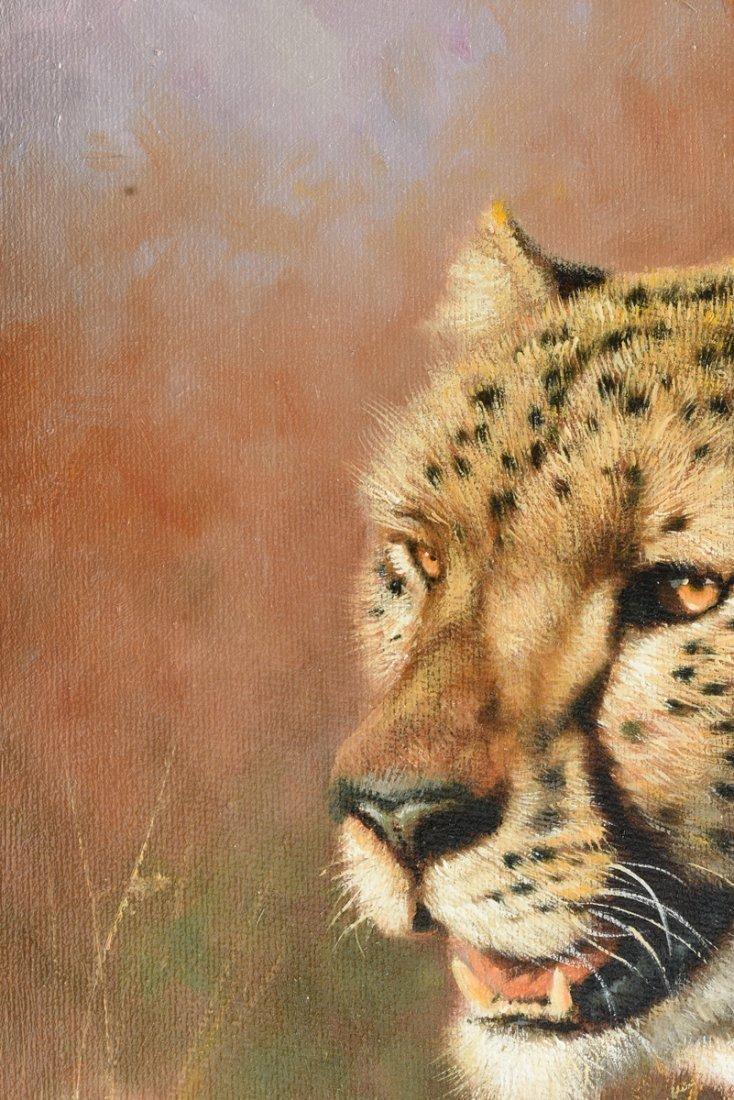 "ERIC FORLEE (American b. 1949) A PAINTING, ""Cheetah - 9"