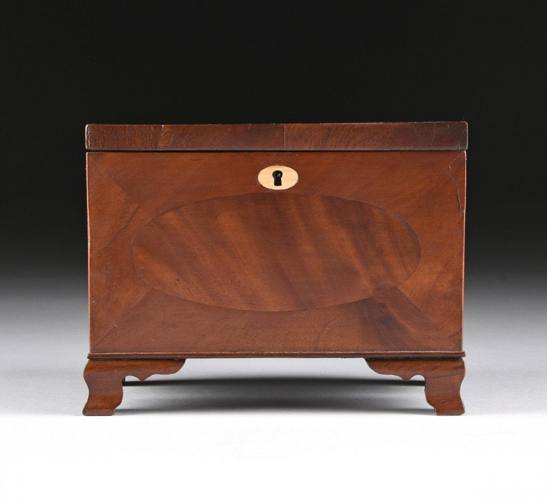 A FEDERAL MAHOGANY PARQUETRY KEEPSAKE BOX, DATED 1824, - 2