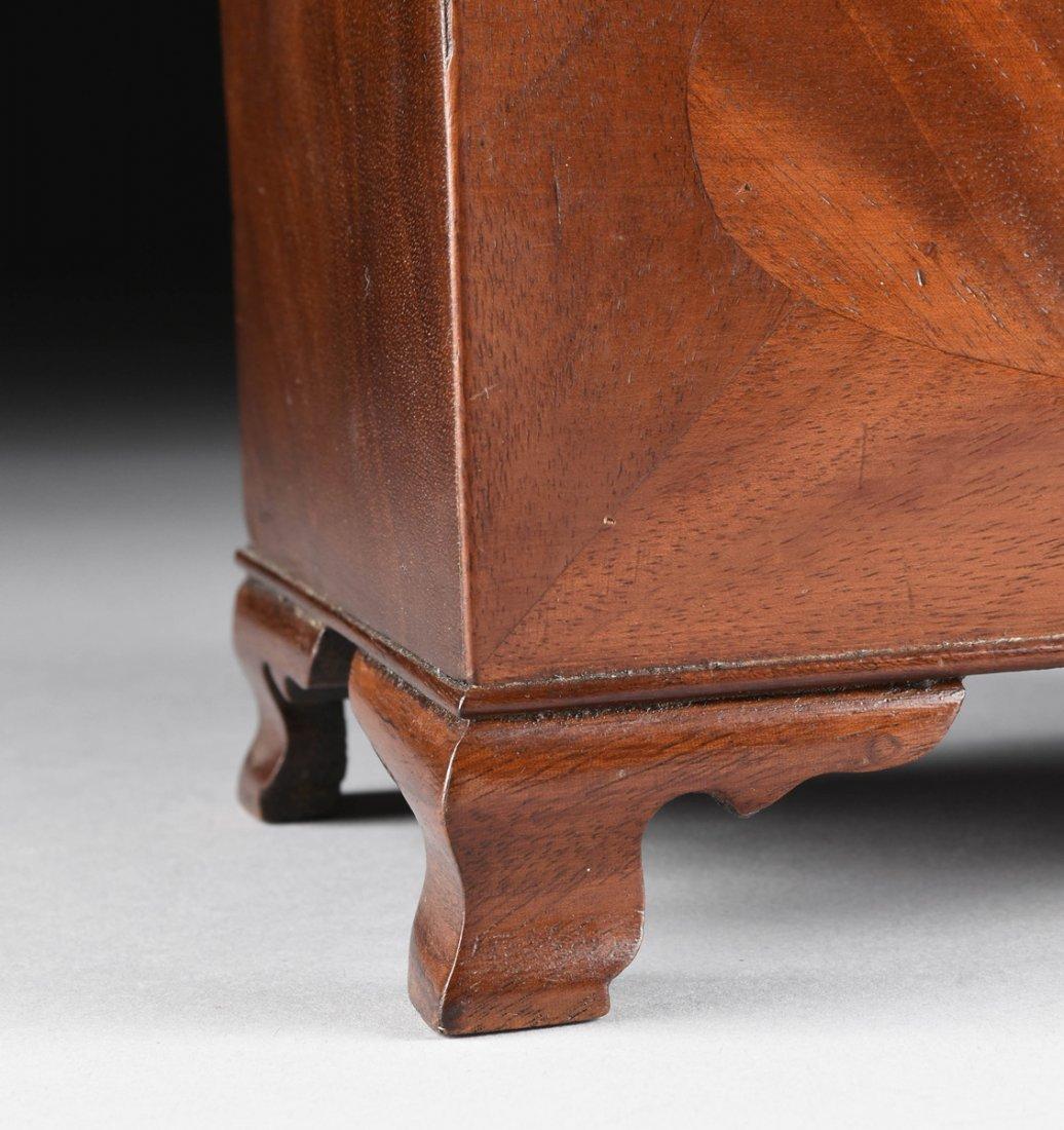 A FEDERAL MAHOGANY PARQUETRY KEEPSAKE BOX, DATED 1824, - 4