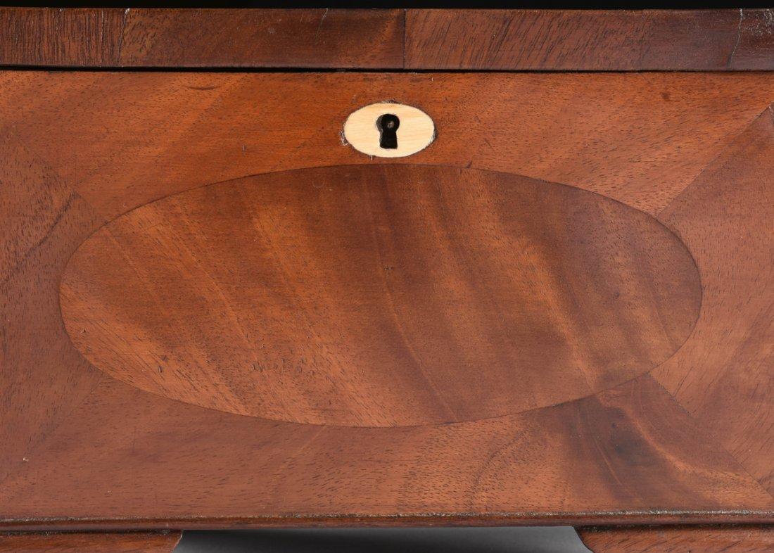 A FEDERAL MAHOGANY PARQUETRY KEEPSAKE BOX, DATED 1824, - 5