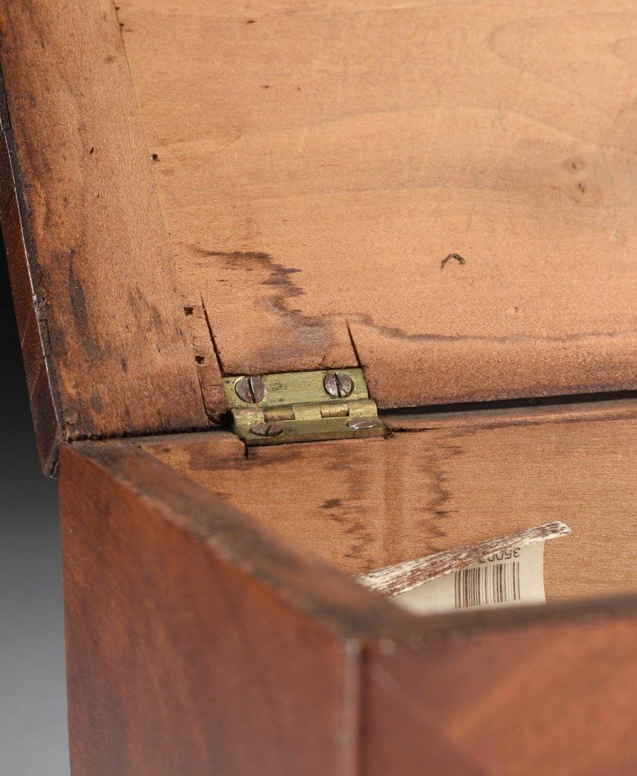 A FEDERAL MAHOGANY PARQUETRY KEEPSAKE BOX, DATED 1824, - 7