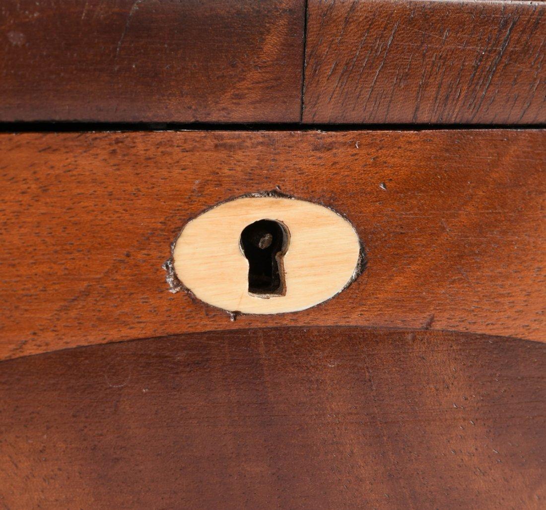 A FEDERAL MAHOGANY PARQUETRY KEEPSAKE BOX, DATED 1824, - 8