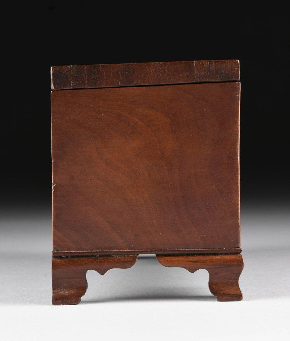 A FEDERAL MAHOGANY PARQUETRY KEEPSAKE BOX, DATED 1824, - 9