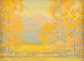 """DAVID STIRLING (American 1887-1971) A PAINTING, """"Edge"""