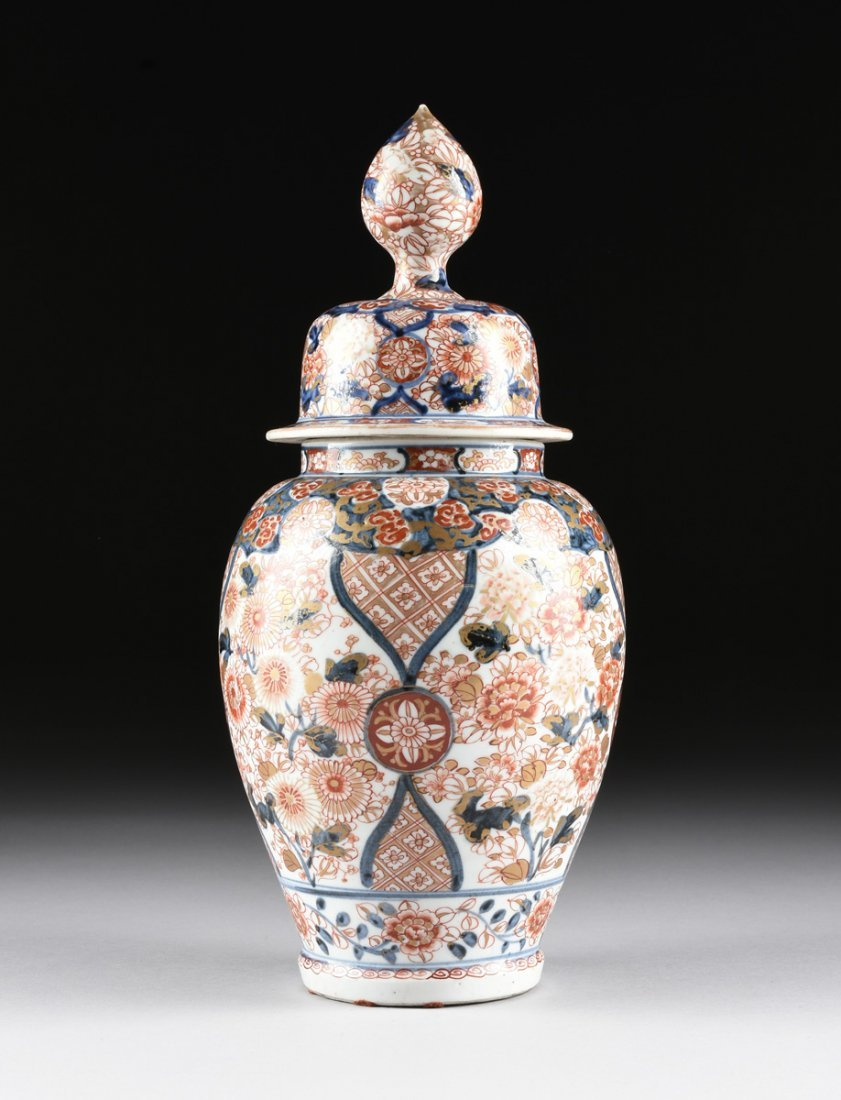A MATCHED PAIR OF CHINESE IMARI PORCELAIN LIDDED JARS, - 10