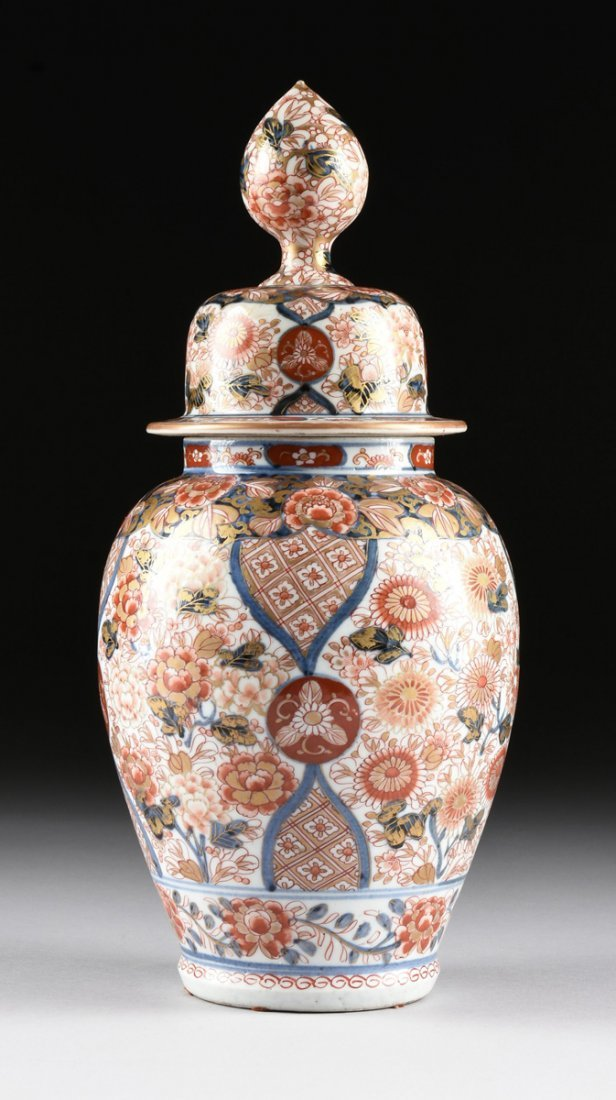 A MATCHED PAIR OF CHINESE IMARI PORCELAIN LIDDED JARS, - 5