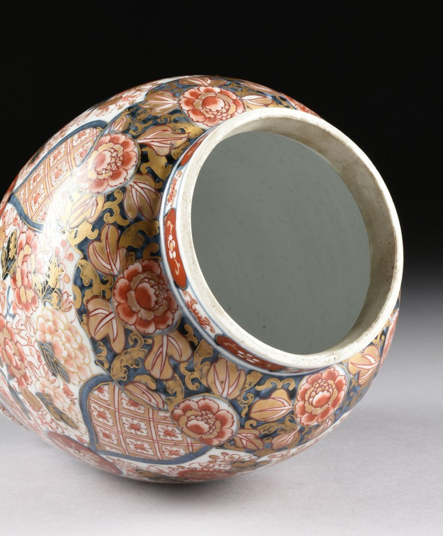 A MATCHED PAIR OF CHINESE IMARI PORCELAIN LIDDED JARS, - 8