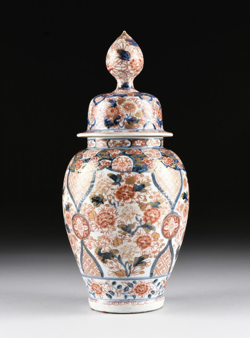 A MATCHED PAIR OF CHINESE IMARI PORCELAIN LIDDED JARS, - 9