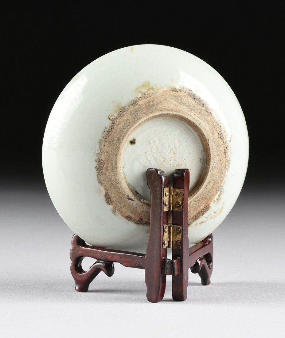 A CHINESE SMALL BARB RIMMED CELADON DISH, TOGETHER WITH - 7