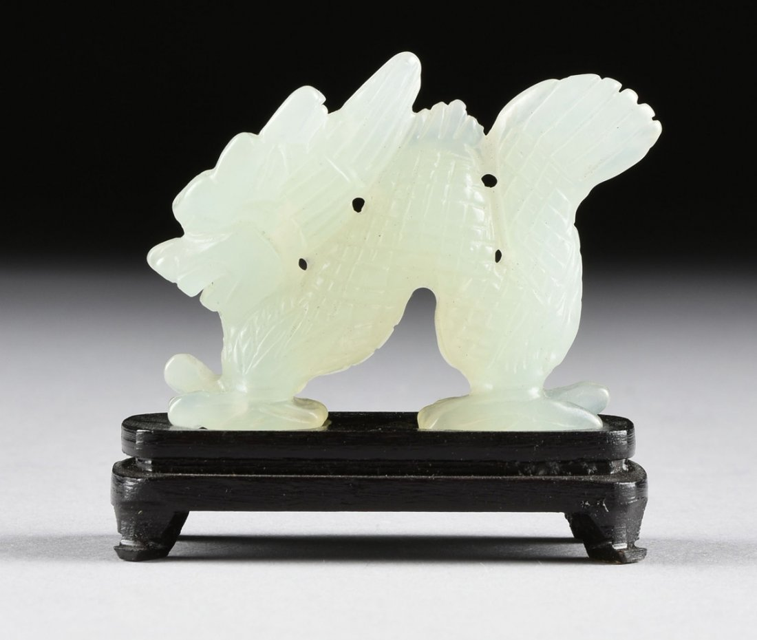 A SET OF TWELVE CHINESE CELADON JADE ZODIAC ANIMAL - 4