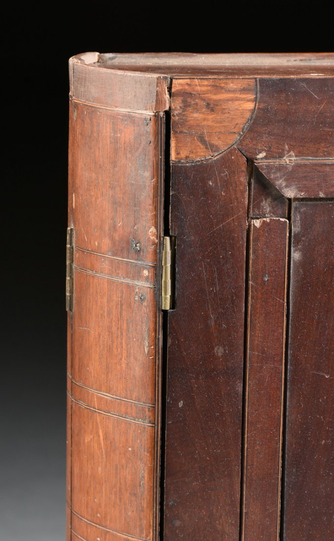 A LARGE FEDERAL PERIOD PARQUETRY INLAID MAHOGANY BOOK - 3
