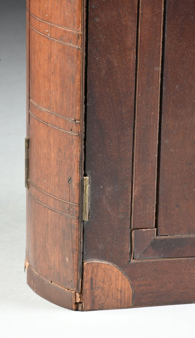 A LARGE FEDERAL PERIOD PARQUETRY INLAID MAHOGANY BOOK - 4