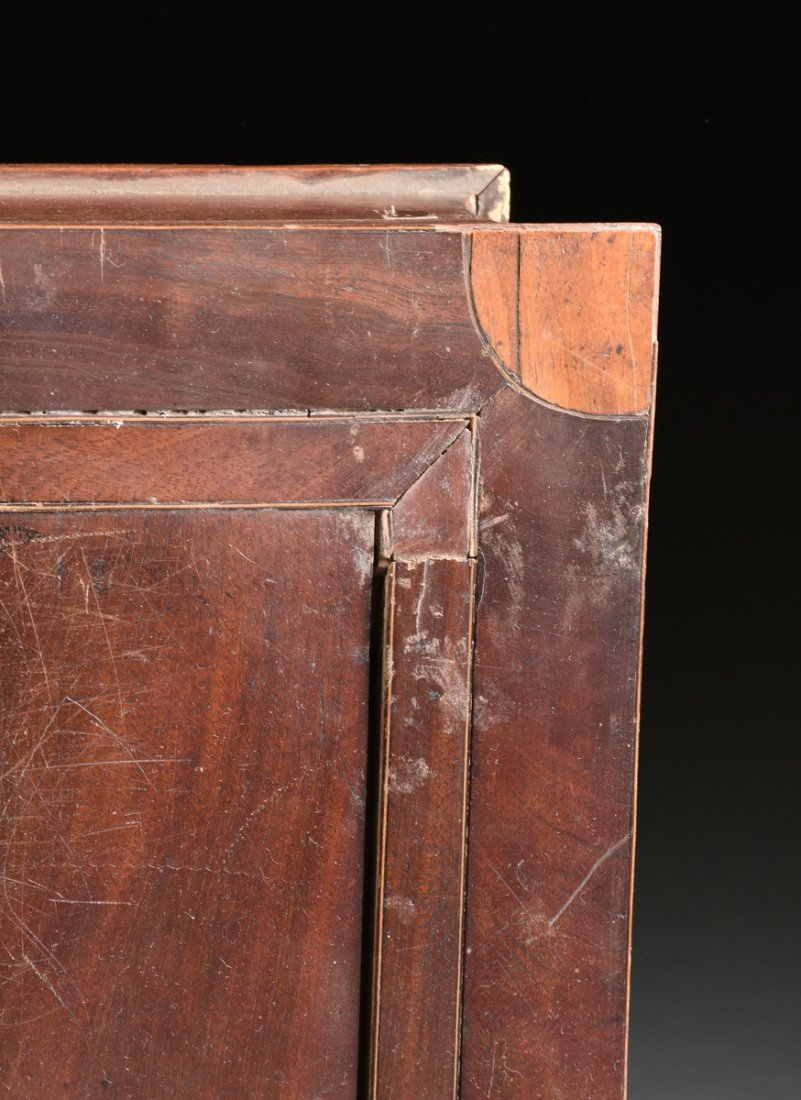 A LARGE FEDERAL PERIOD PARQUETRY INLAID MAHOGANY BOOK - 5