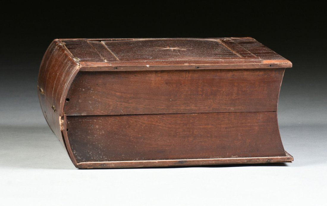 A LARGE FEDERAL PERIOD PARQUETRY INLAID MAHOGANY BOOK - 7