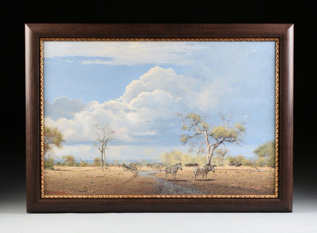 """JOHANN KOCH (South African b. 1948) A PAINTING, """"First - 2"""