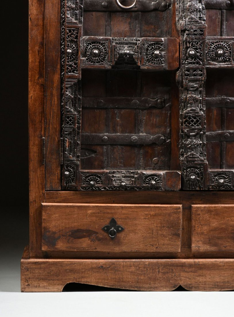 A SPANISH COLONIAL STYLE CARVED WOOD ARMOIRE, 19TH - 4