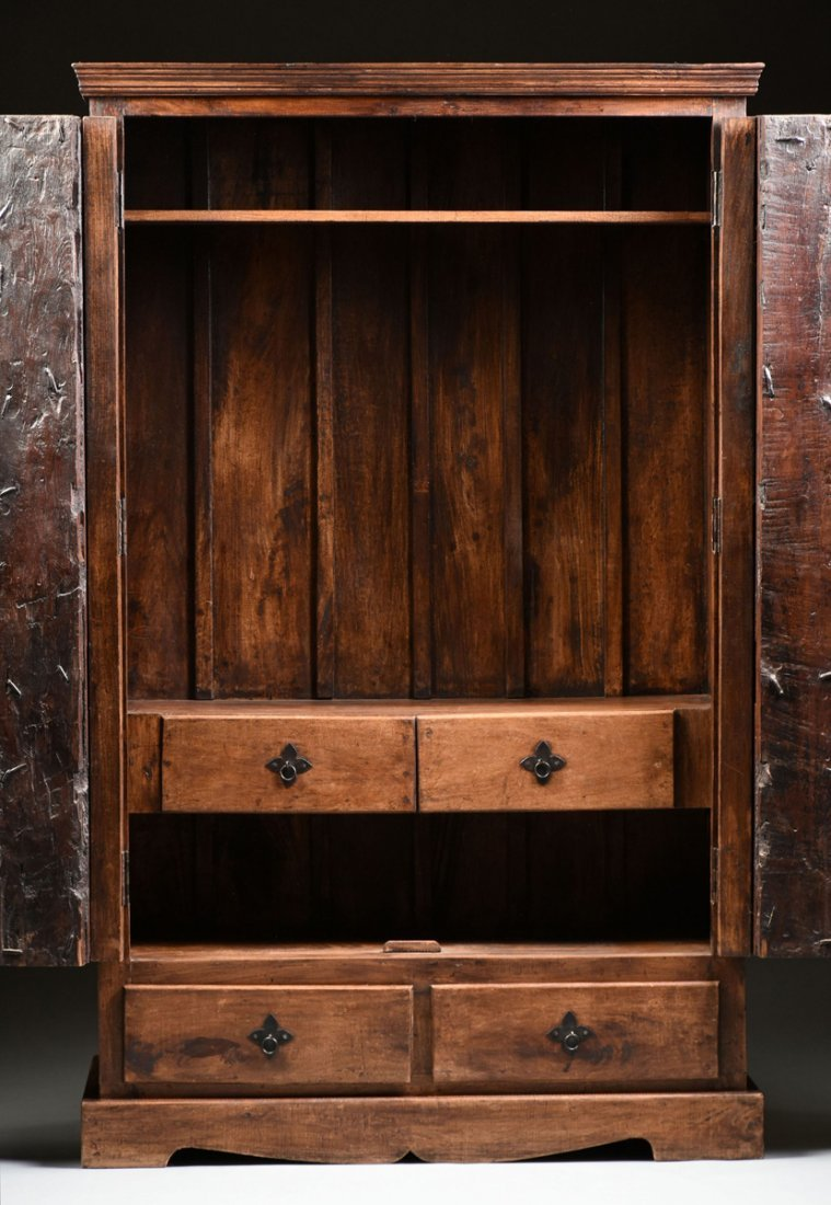 A SPANISH COLONIAL STYLE CARVED WOOD ARMOIRE, 19TH - 9