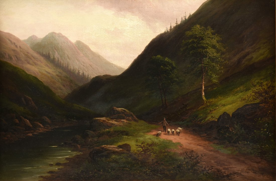 "BRITISH SCHOOL (19th Century) A PAINTING, ""Sheep"