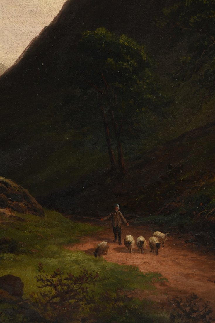 "BRITISH SCHOOL (19th Century) A PAINTING, ""Sheep - 5"