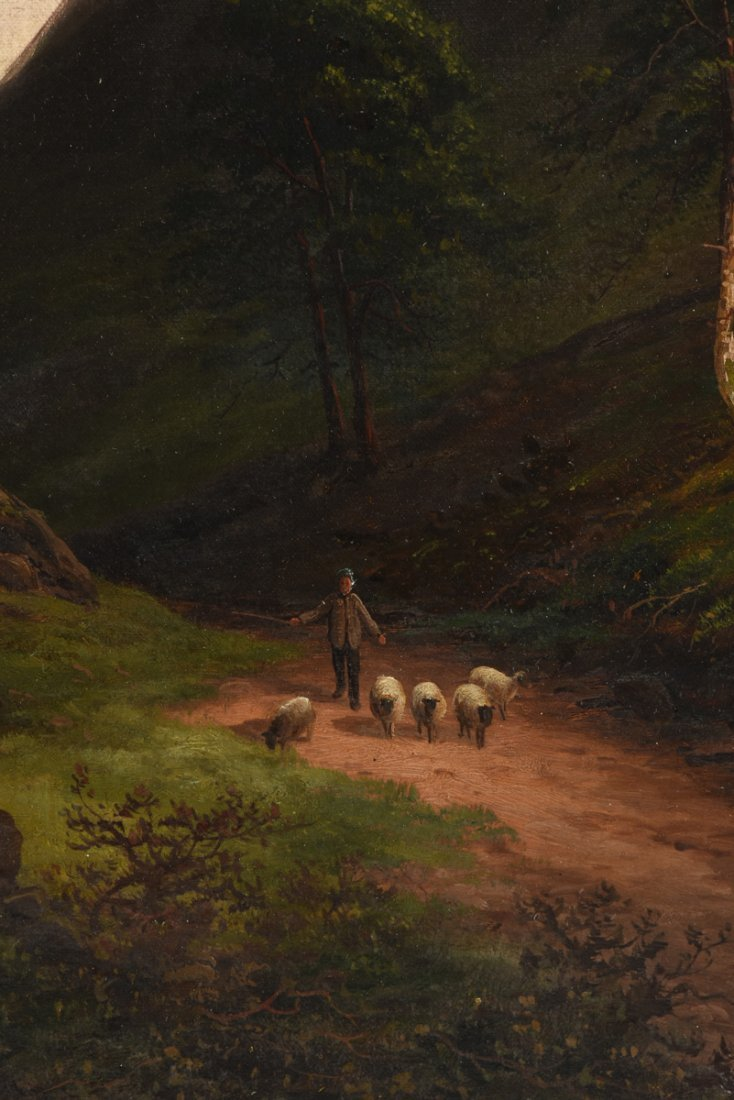 "BRITISH SCHOOL (19th Century) A PAINTING, ""Sheep - 8"