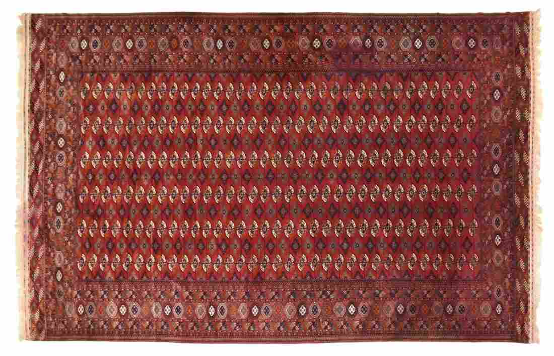 A LARGE VINTAGE BOKHARA RUG, 20TH CENTURY,