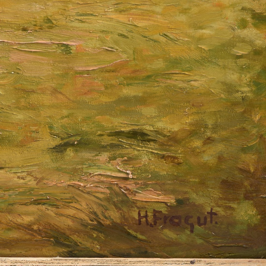 "H. FROGUT (20th Century) A PAINTING, ""Figure in Field - 3"
