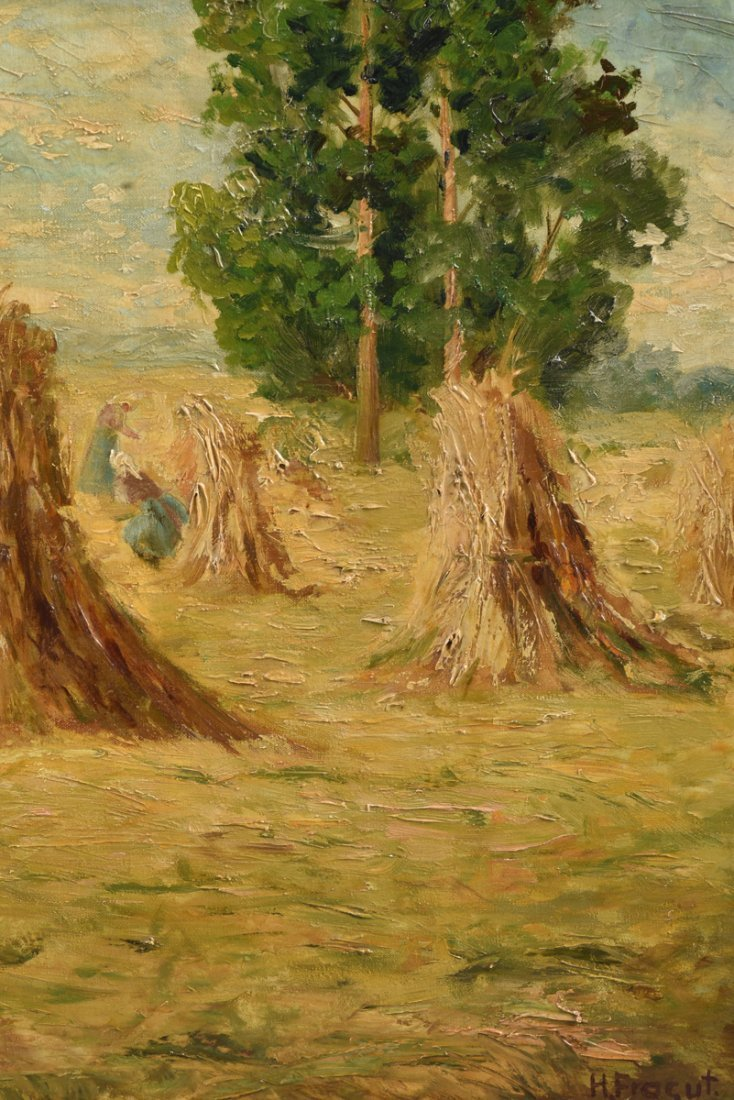 "H. FROGUT (20th Century) A PAINTING, ""Figure in Field - 7"