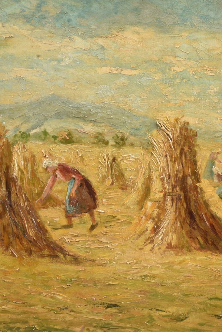 "H. FROGUT (20th Century) A PAINTING, ""Figure in Field - 8"