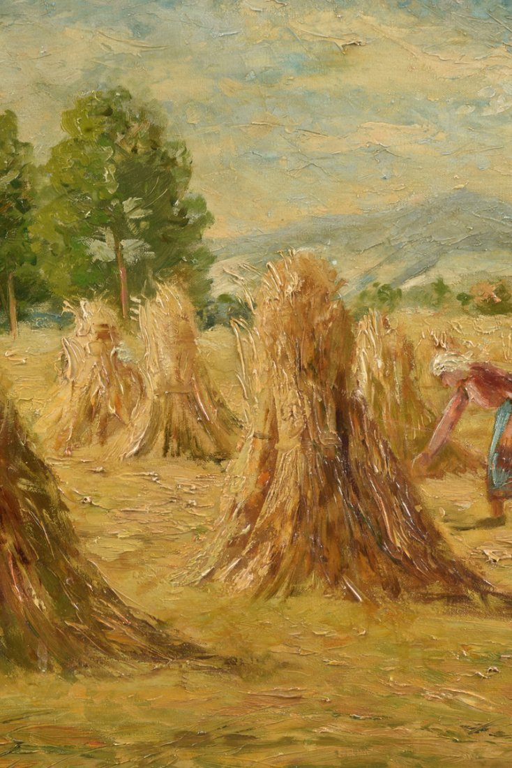 "H. FROGUT (20th Century) A PAINTING, ""Figure in Field - 9"