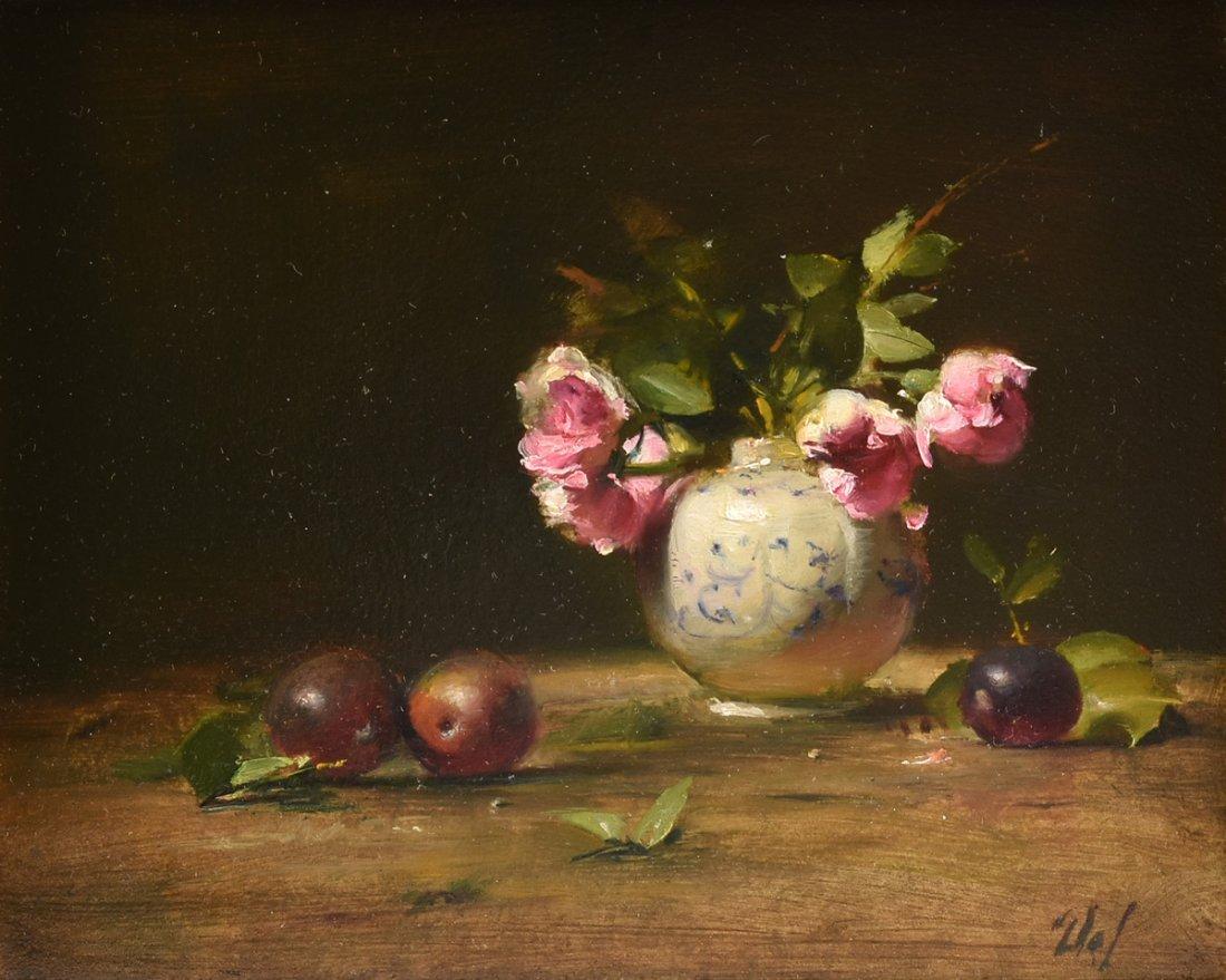 "DAVID A. LEFFEL (American b.1931) A PAINTING, ""Tea"