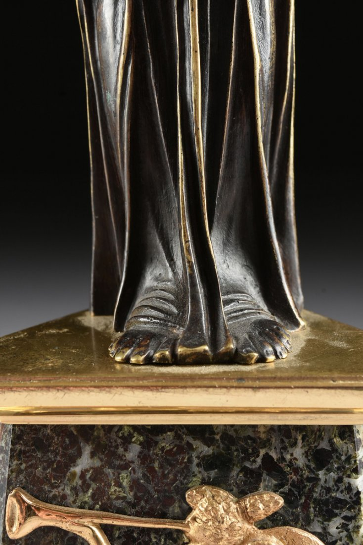A PAIR OF LOUIS XVI STYLE GILT AND PATINATED BRONZE - 5