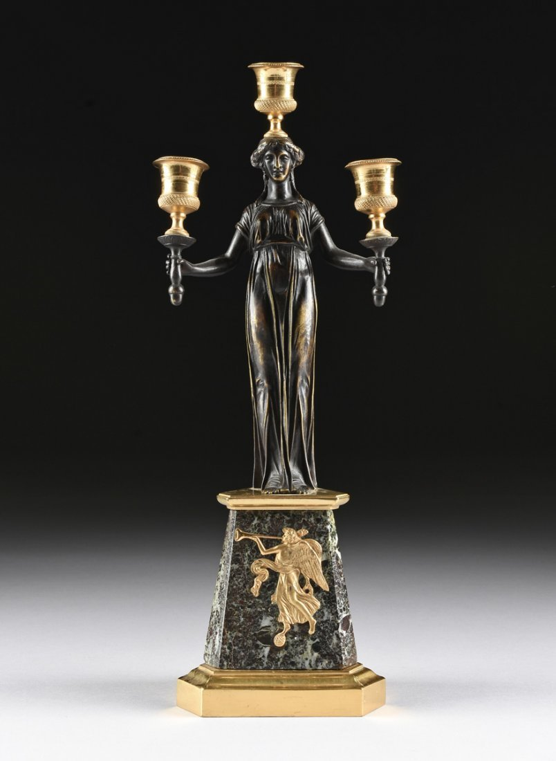 A PAIR OF LOUIS XVI STYLE GILT AND PATINATED BRONZE - 7