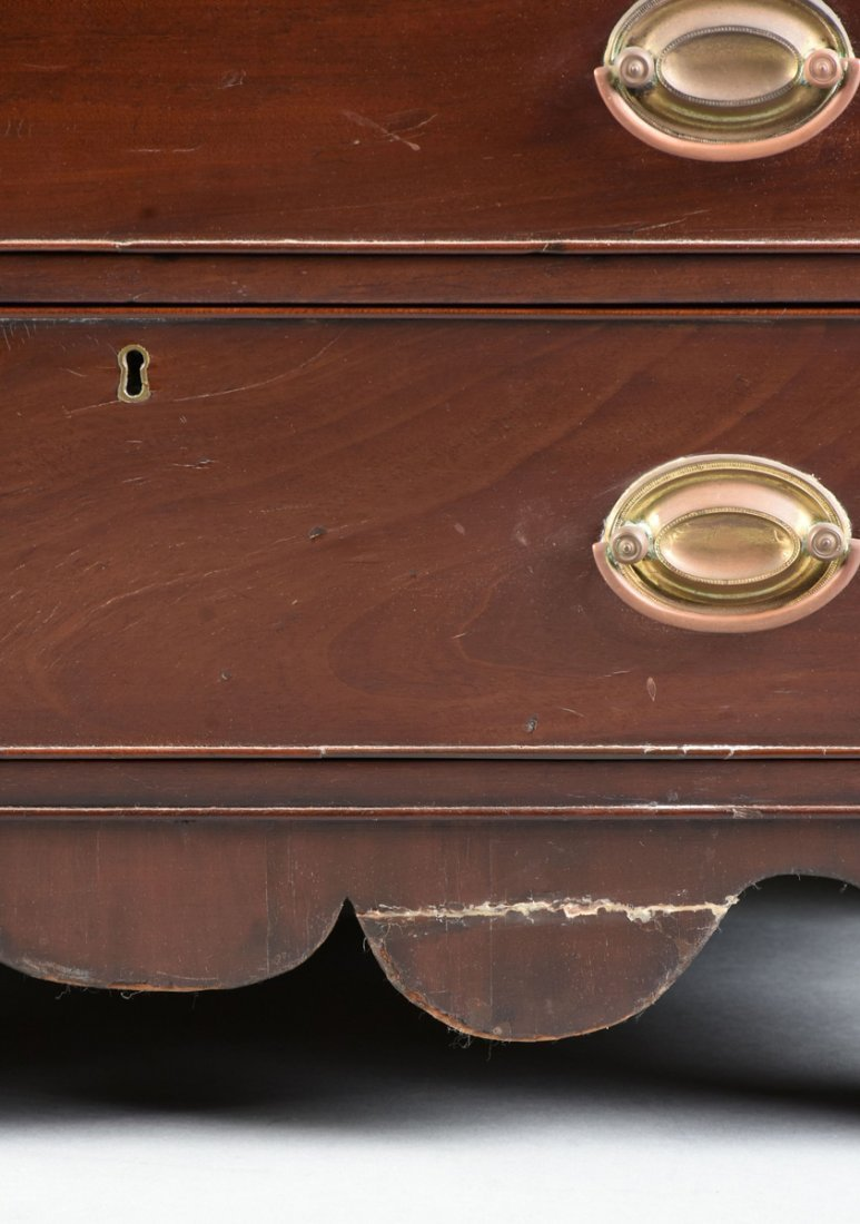 A FEDERAL MAHOGANY CHILD'S CHEST OF DRAWERS, POSSIBLY - 4