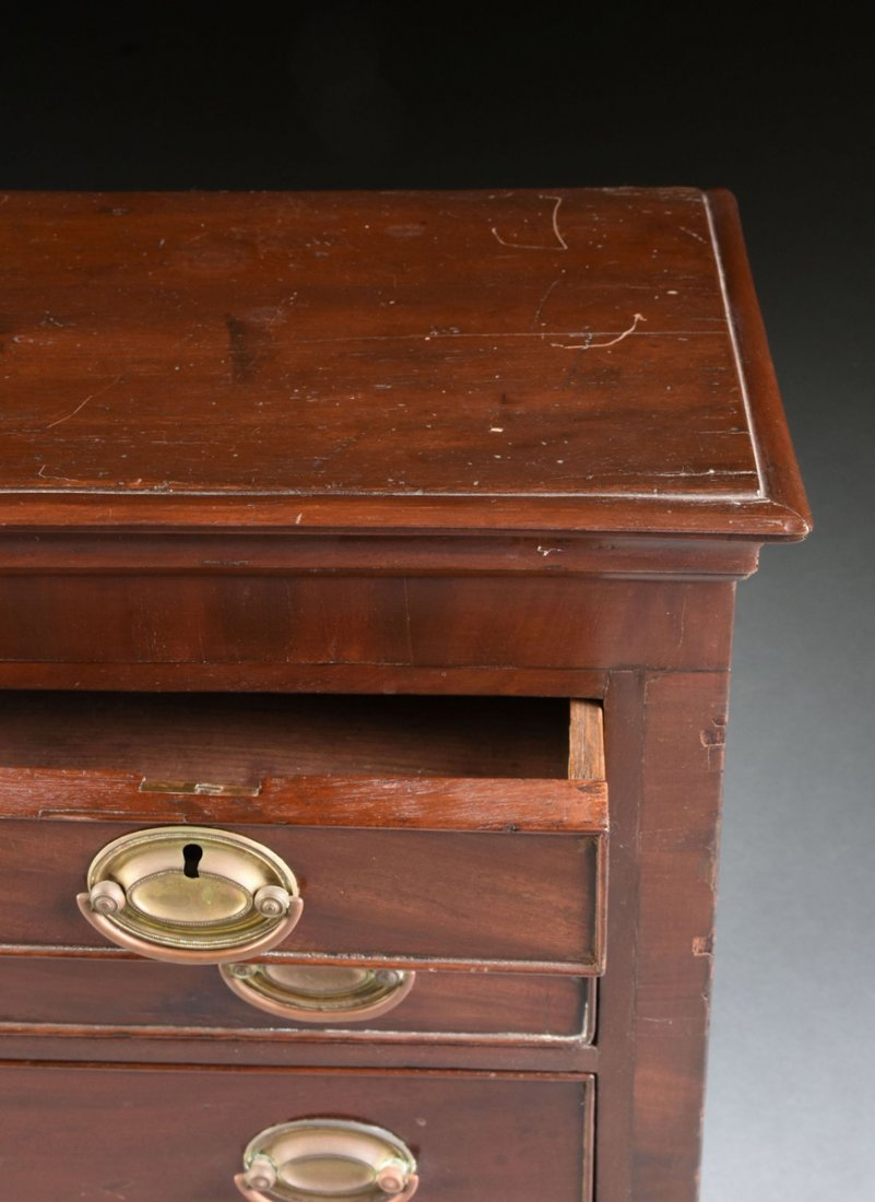 A FEDERAL MAHOGANY CHILD'S CHEST OF DRAWERS, POSSIBLY - 8