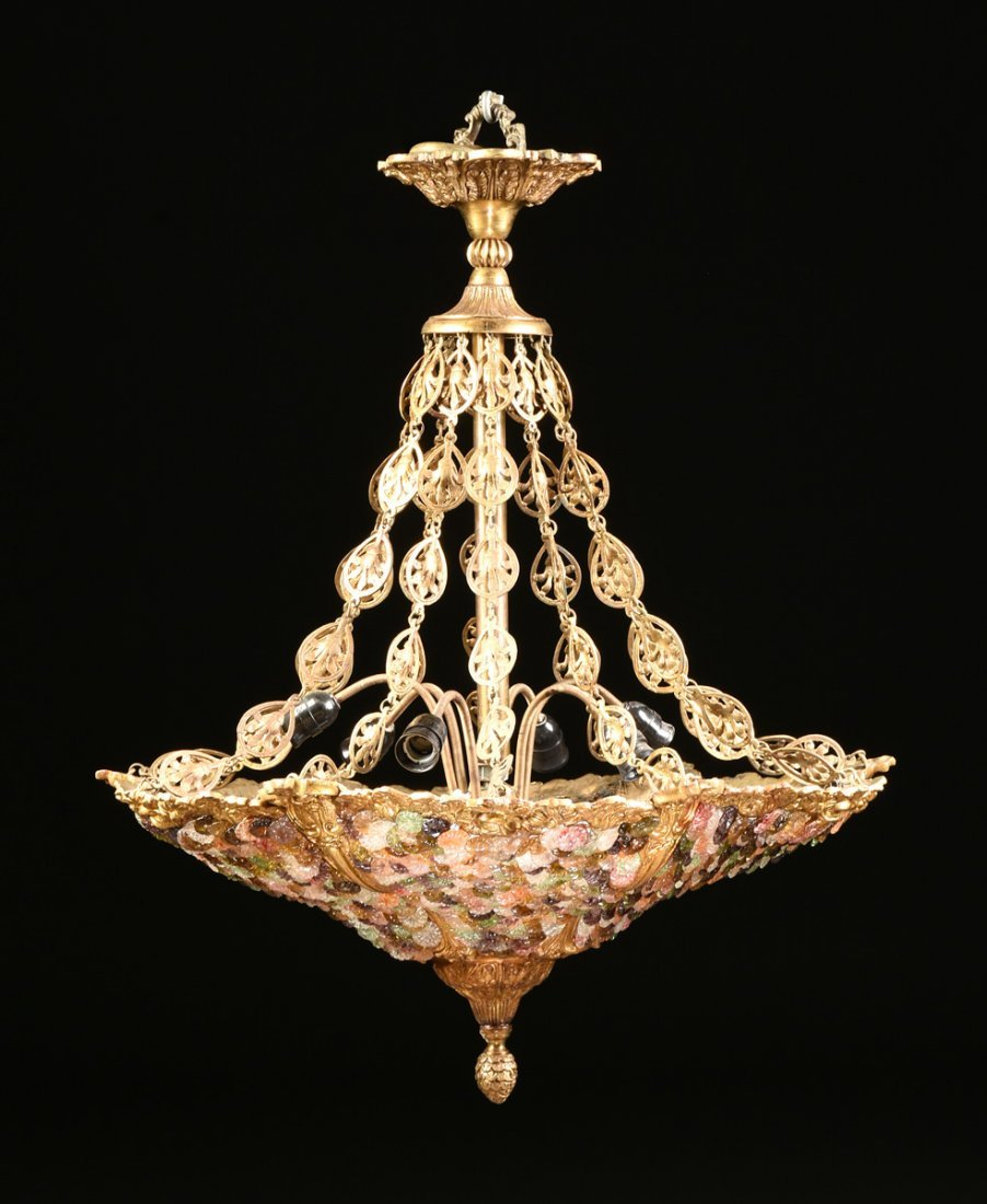 A CONTINENTAL ROCOCO REVIVAL STYLE GILT BRONZE AND