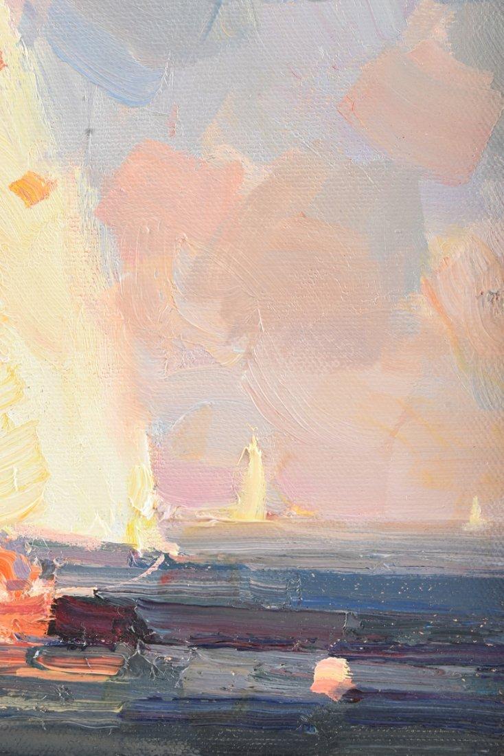 """CALVIN LIANG (American b.1960) A PAINTING, """"Sailboats - 7"""