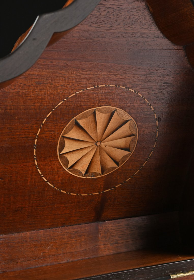 A FEDERAL PERIOD PARQUETRY INLAID FLAME MAHOGANY - 8