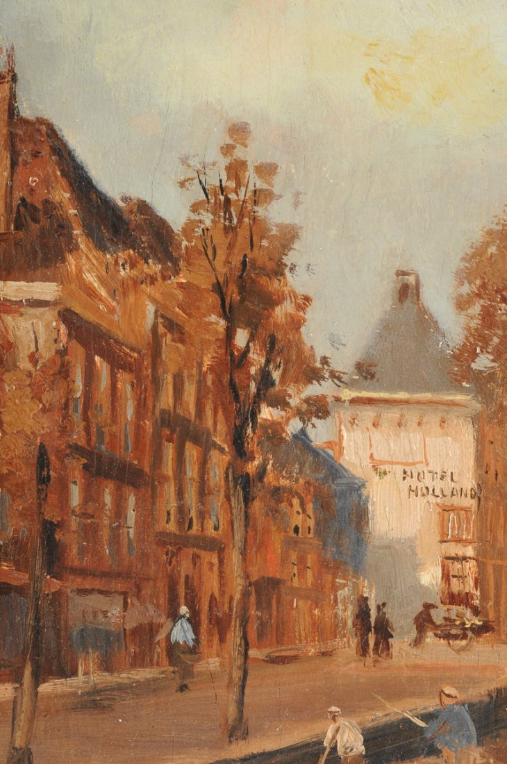 """MAURICE LENOIR (French 1872-1931) A PAINTING, """"Canal - 4"""