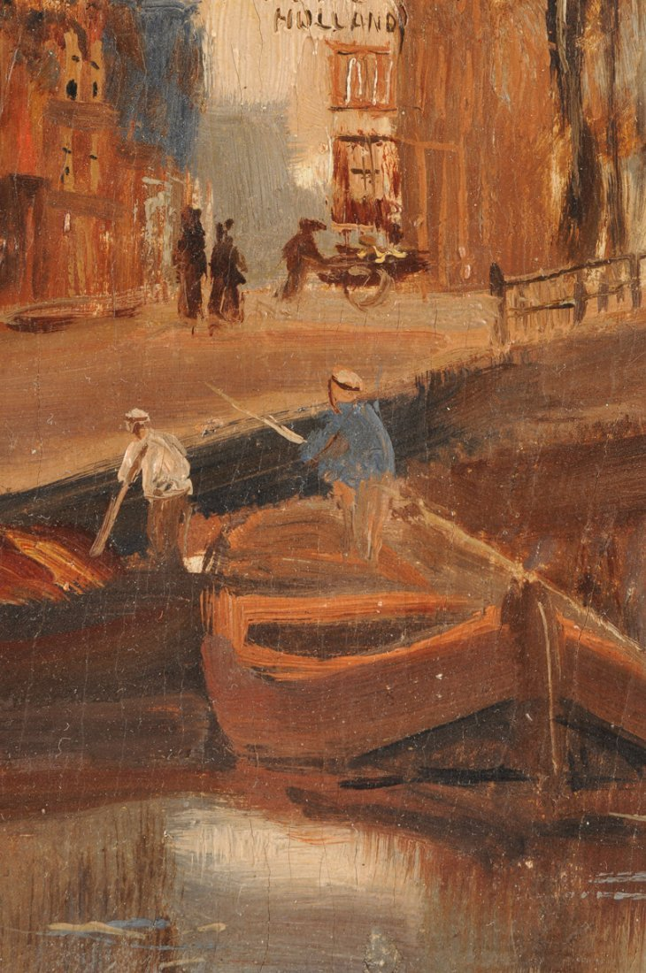 """MAURICE LENOIR (French 1872-1931) A PAINTING, """"Canal - 8"""