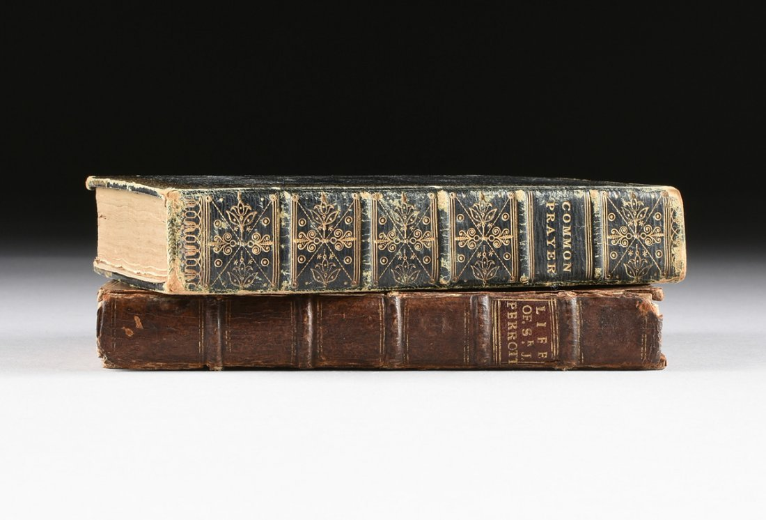 """TWO ENGLISH LEATHER BOUND VOLUMES, """"THE BOOK OF COMMON"""