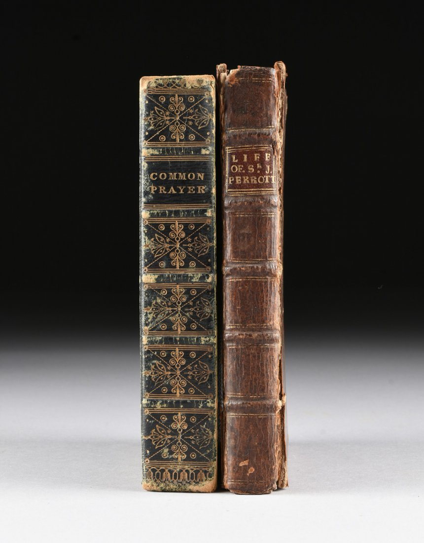 "TWO ENGLISH LEATHER BOUND VOLUMES, ""THE BOOK OF COMMON - 4"