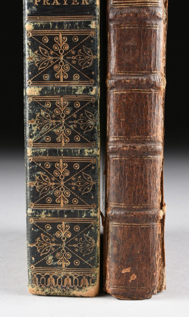 "TWO ENGLISH LEATHER BOUND VOLUMES, ""THE BOOK OF COMMON - 6"