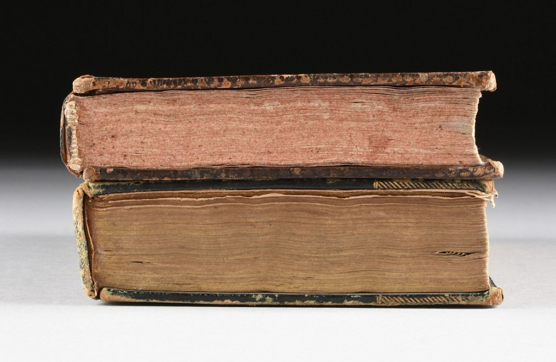 "TWO ENGLISH LEATHER BOUND VOLUMES, ""THE BOOK OF COMMON - 7"