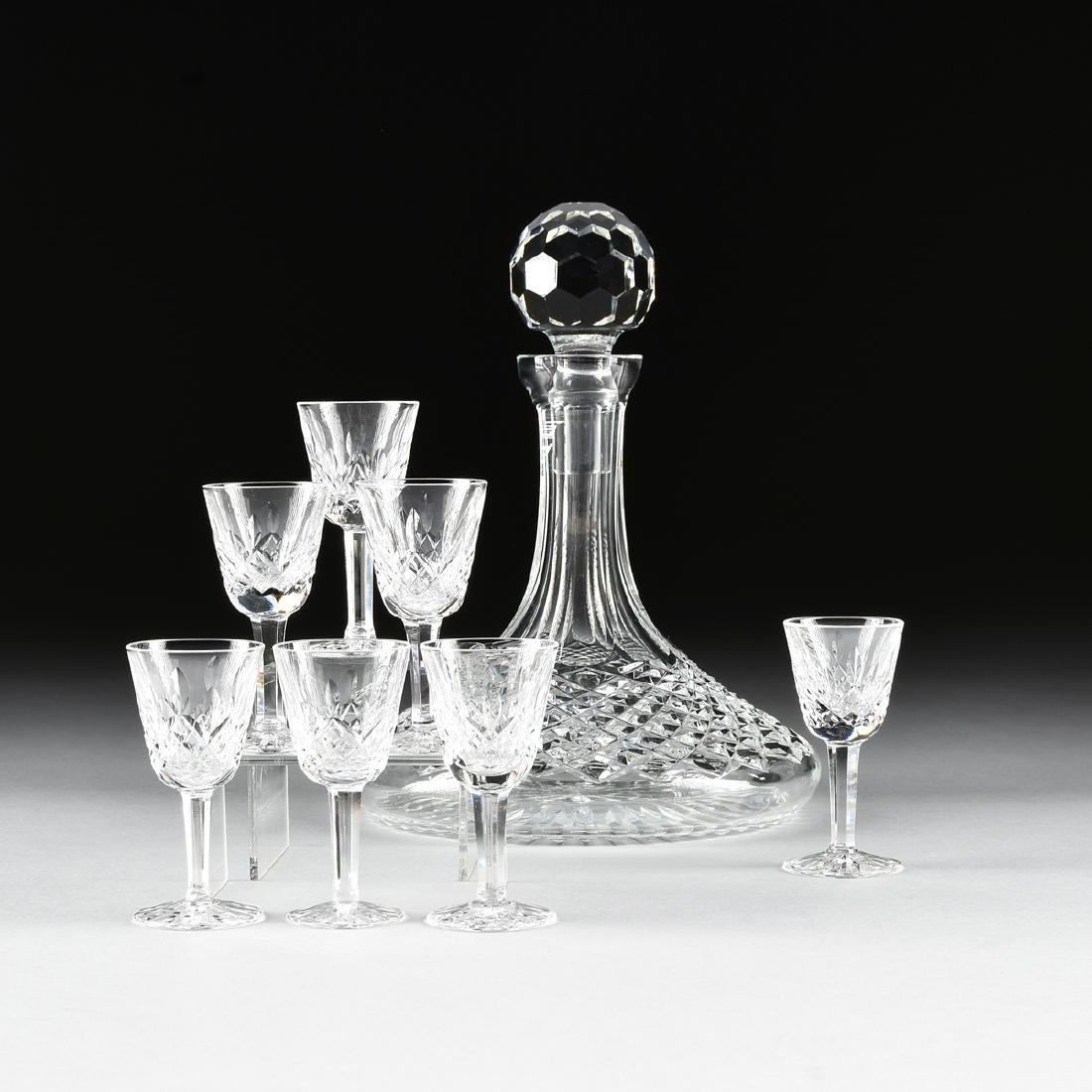 A WATERFORD CUT CRYSTAL COLLEEN PATTERN SHIP'S DECANTER