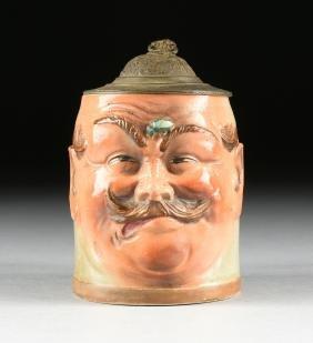 AN AUGUSTE HANKE (German 1875-1938) PEWTER MOUNTED