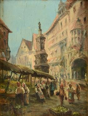 "GERMAN SCHOOL (19th Century) A PAINTING, ""Continental"