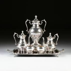 A SIX PIECE AMERICAN SILVER PLATED TEA AND COFFEE