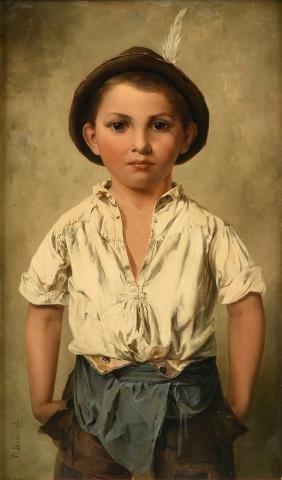 "MINNA BUDINSKY (Austrian b. 1858-1913) A PAINTING, ""Boy"