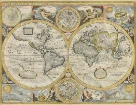 JOHN SPEED (British 1552-1629) A HAND COLORED