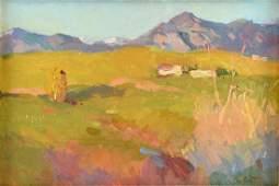"GALUST BERBERIAN (American b. 1955) A PAINTING, ""Taos"